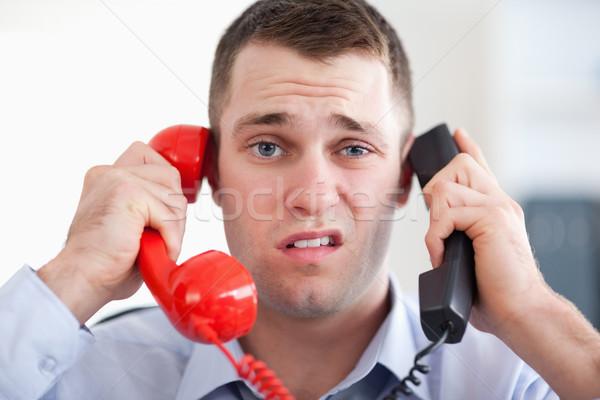 Imprenditore telefono ufficio corporate parlare Foto d'archivio © wavebreak_media