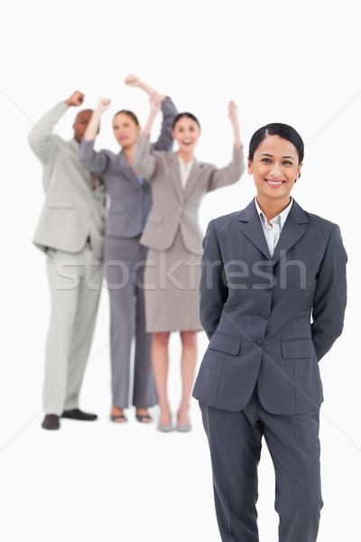 Squadra dietro bianco felice Foto d'archivio © wavebreak_media
