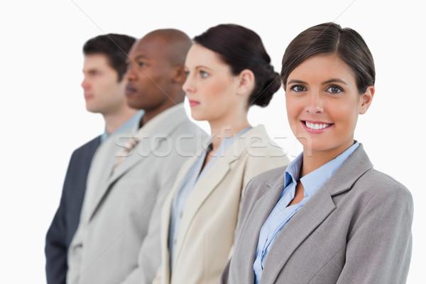 笑みを浮かべて 立って 白 ビジネス ストックフォト © wavebreak_media