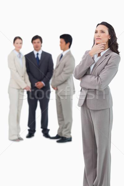 Vendedora equipo detrás blanco negocios Foto stock © wavebreak_media