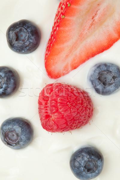 десерта Ягоды белый фон красный клубника Сток-фото © wavebreak_media