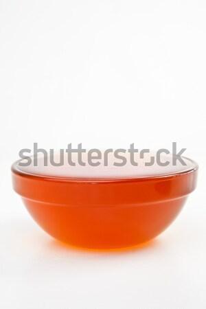 Méz tele tál fehér háttér narancs Stock fotó © wavebreak_media
