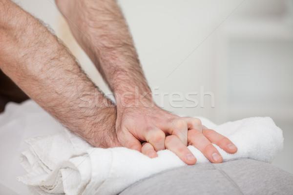 Close-up of a masseur massing a woman indoors Stock photo © wavebreak_media