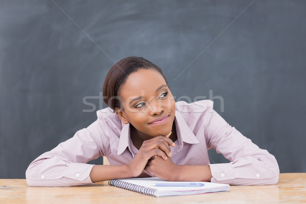 Thoughtful black woman in a classroom Stock photo © wavebreak_media