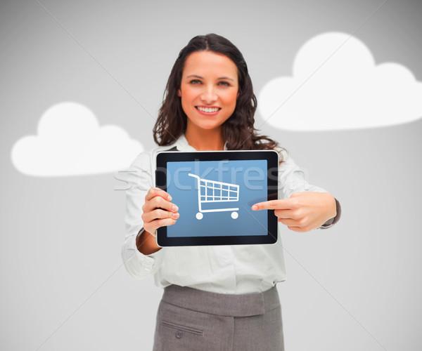 女性 立って デジタル タブレット ショッピング ストックフォト © wavebreak_media