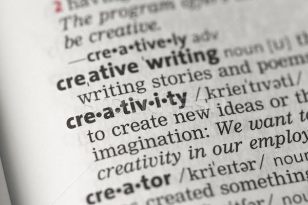 Kreatywność definicja stron informacji wiedzy słowa Zdjęcia stock © wavebreak_media