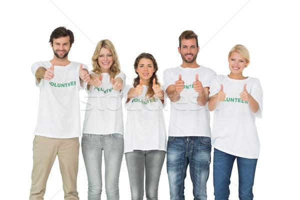 Csoport portré boldog önkéntesek gesztikulál remek Stock fotó © wavebreak_media