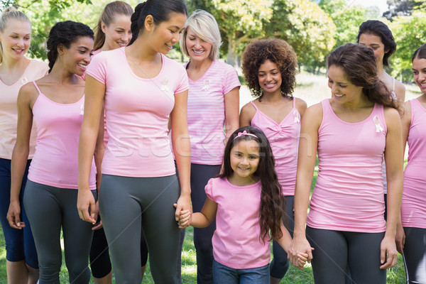 Group of females supporting breast cancer campaign  Stock photo © wavebreak_media