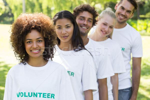 Volunteers standing in a line Stock photo © wavebreak_media