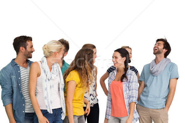 Group of casually dressed happy young people Stock photo © wavebreak_media