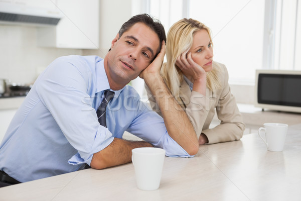 Business couple not talking after an argument in kitchen Stock photo © wavebreak_media