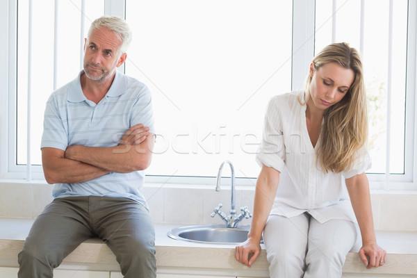 Upset couple not talking after an argument  Stock photo © wavebreak_media