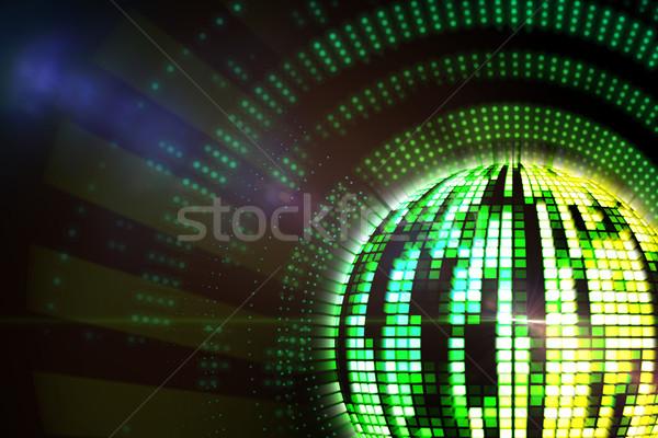 генерируется Disco Ball зеленый желтый Сток-фото © wavebreak_media