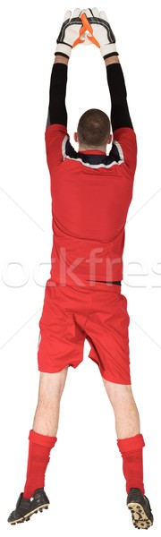Fit goal keeper jumping up Stock photo © wavebreak_media