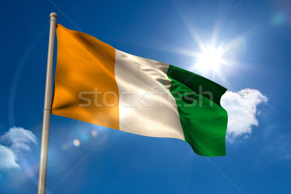 Ivory coast national flag on flagpole  Stock photo © wavebreak_media