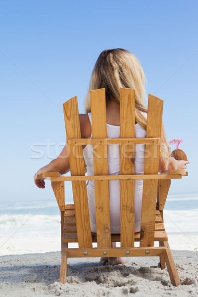 Bella seduta deck sedia Foto d'archivio © wavebreak_media
