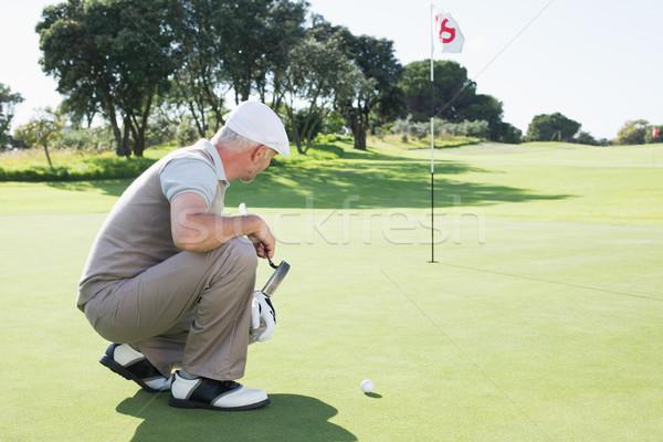 гольфист зеленый дыра гольф спорт Сток-фото © wavebreak_media