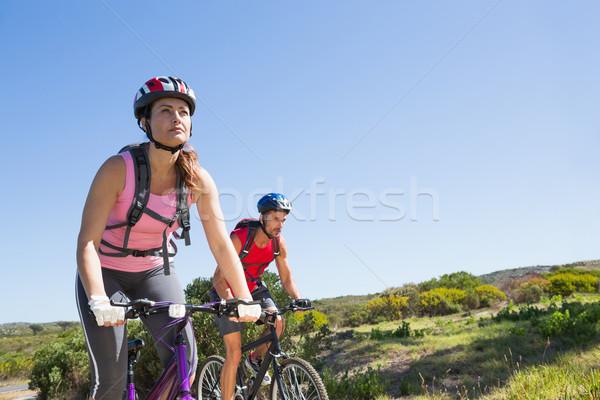 активный пару Велоспорт женщину Сток-фото © wavebreak_media