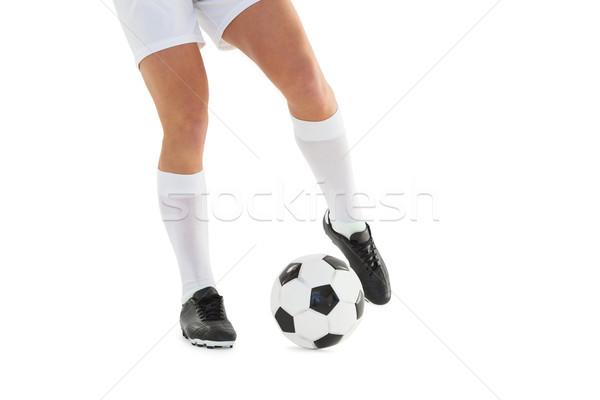 Futballista rúg labda fehér sport futball Stock fotó © wavebreak_media
