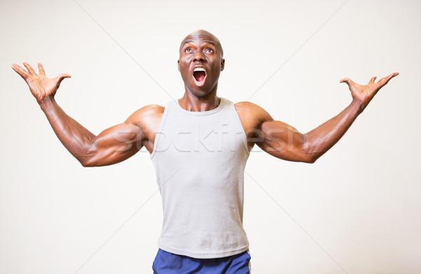 Portret gespierd man witte lichaam Stockfoto © wavebreak_media