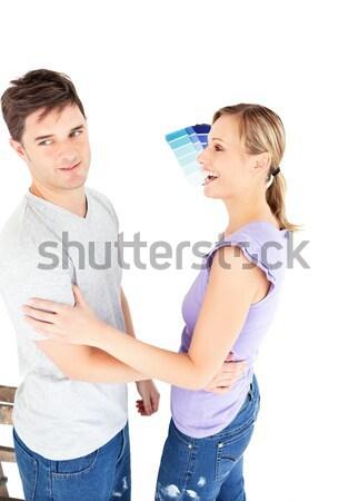 аргумент белый человека пару женщины Сток-фото © wavebreak_media