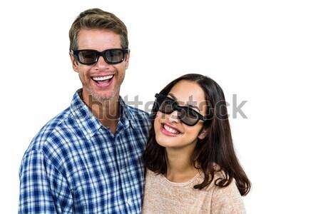 Homem bastante namorada de volta branco Foto stock © wavebreak_media