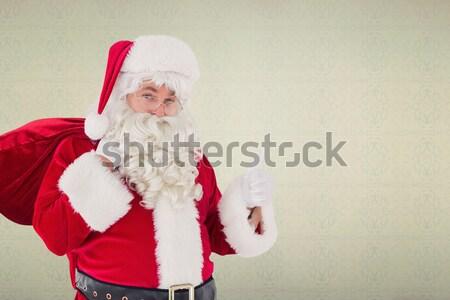 Noel baba bir şey uzak beyaz adam Noel Stok fotoğraf © wavebreak_media
