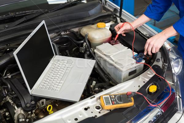 механиком диагностический инструментом двигатель ремонта гаража Сток-фото © wavebreak_media