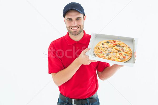 Feliz fresco pizza retrato Foto stock © wavebreak_media