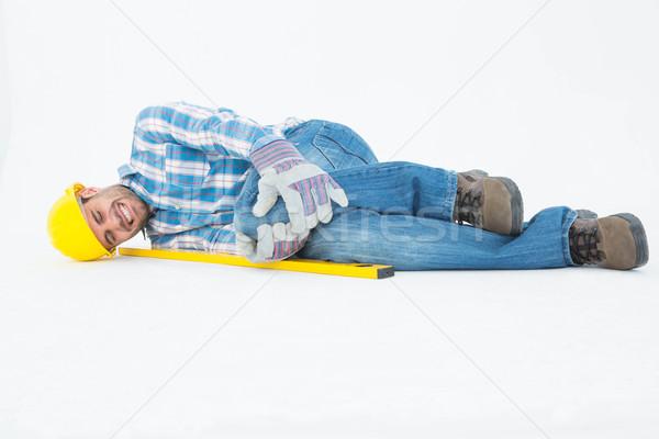 Photo stock: Travailleur · de · la · construction · souffrance · genou · douleur · construction