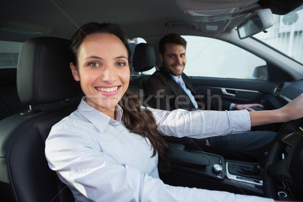 Equipo de negocios sonriendo cámara coche feliz equipo Foto stock © wavebreak_media