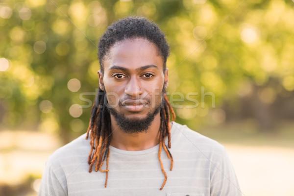 Handsome hipster looking at camera Stock photo © wavebreak_media