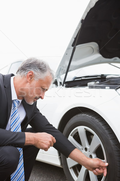 бизнесмен шин автомобилей человека костюм галстук Сток-фото © wavebreak_media
