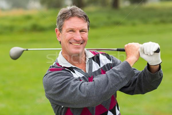 гольфист улыбаясь камеры гольф Сток-фото © wavebreak_media
