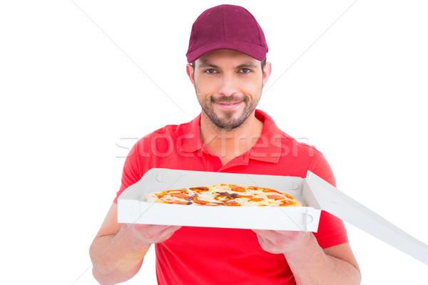 Fresco pizza branco homem Foto stock © wavebreak_media