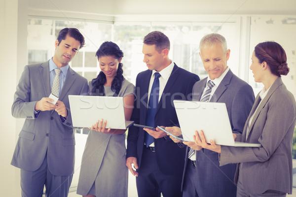 ストックフォト: ビジネス · 同僚 · マルチメディア · その他