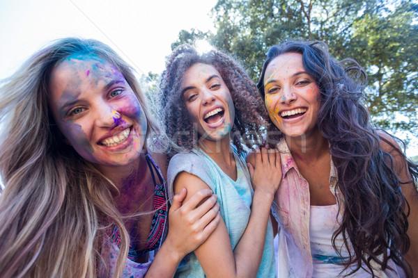 Felice amici coperto polvere vernice Foto d'archivio © wavebreak_media