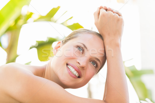Close up of a beautiful woman on massage table Stock photo © wavebreak_media