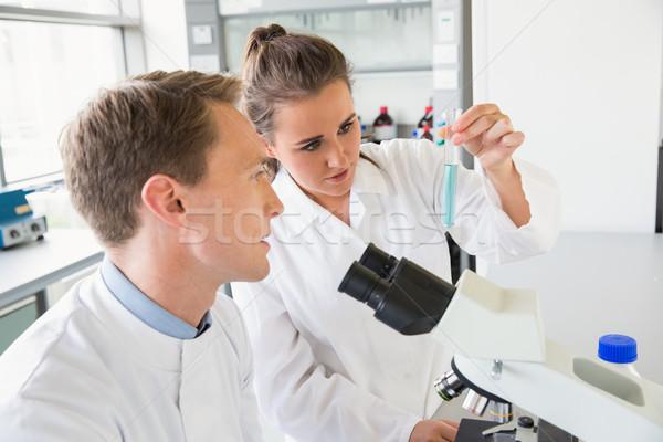 Jovem cientistas test tube laboratório escolas Foto stock © wavebreak_media
