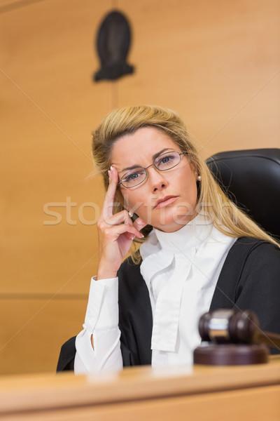 Stern judge looking at camera Stock photo © wavebreak_media