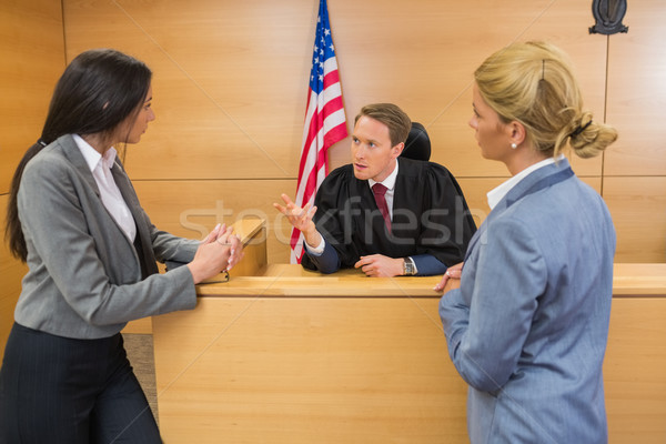 Advogados juiz tribunal quarto mulher Foto stock © wavebreak_media