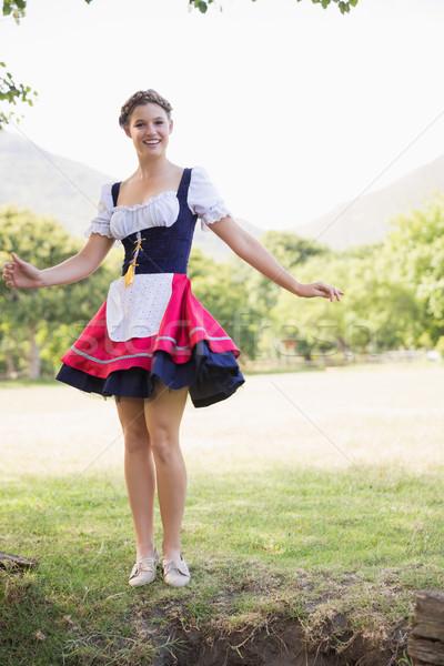 Pretty oktoberfest girl in the park Stock photo © wavebreak_media