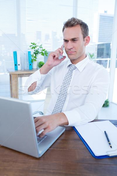 özenli işadamı konuşma telefon ofis iş Stok fotoğraf © wavebreak_media