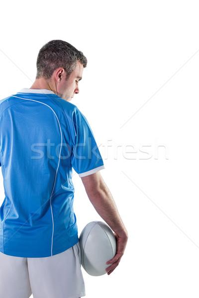Rugby gracz rugby ball widok z tyłu sportu Zdjęcia stock © wavebreak_media