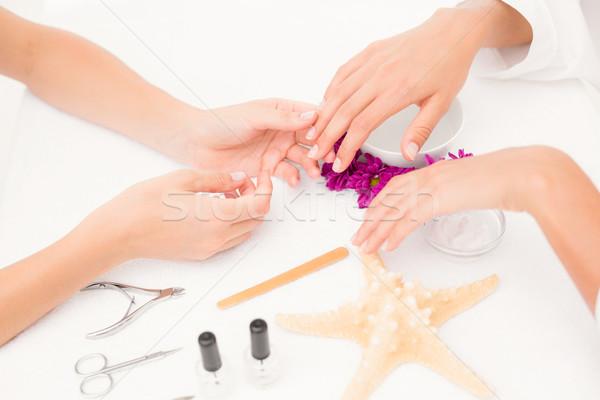 Vrouwelijke klanten nagels spa schoonheidssalon Stockfoto © wavebreak_media