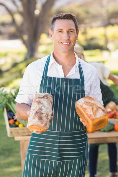Souriant agriculteur homme portrait heureux Photo stock © wavebreak_media