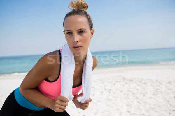 Woman looking away while standing at beach Stock photo © wavebreak_media