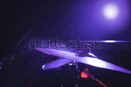 Drum zestaw nightclub kobieta Zdjęcia stock © wavebreak_media