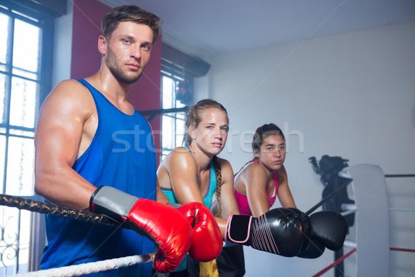 Portret młodych stałego liny boks Zdjęcia stock © wavebreak_media