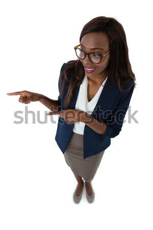 улыбаясь деловая женщина презентация мнение Сток-фото © wavebreak_media